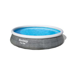 Bestway -Fast Set PVC 13 Foot Round Inflatable Pool Set S6A
