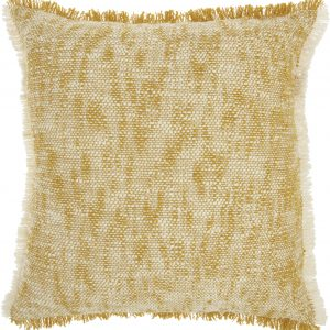 Nourison Life Styles musatard throw pillow 20'x20' S2C