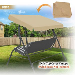 "73""x52"" Swing Canopy Replacement Porch Top (Beige) S2B"