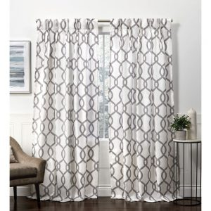 kochi Linen Blend Curtain Panel Pair 54x84 S1B
