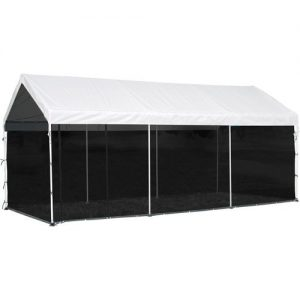 10X20 Screen House Enclosure Kit Screen BLACK S2B