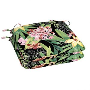 """Better Homes &Garden  teal breezy tropical 21""""x21"""" pation dinning seat cushion S2C"""