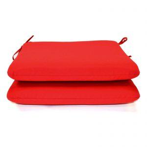 "Sunbrella cushoin solid 20""x18"" red in box 2"