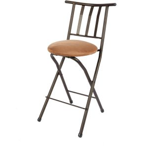 "Slat-Back Folding Barstool 35"" S1C"