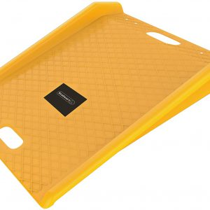 Stalwart Curb Ramp, Portable Poly Ramp With 1000lbs Weight Capacity (For Delivery, Hand Truck, Carts, Wheelchairs, Walkers) (Yellow) S7A
