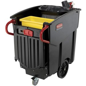 Rubbermaid Commercial 120-gallon Mega Brute Mobile Waste Collector, Black FL2