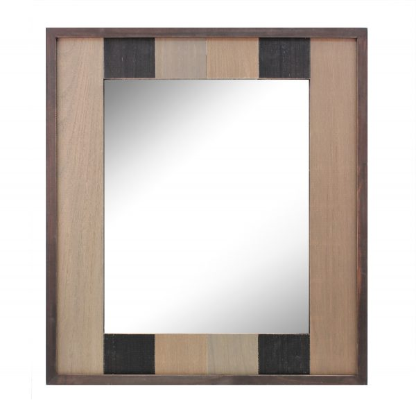 Rectangle Worn Wood Mirror S1A
