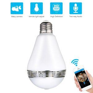 Light Bulb CAMERA VR Panaramic Wireless S1B