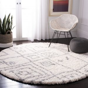 Safavieh Fontana Rida Southwestern Plush Shag Area Rug or 6'7x6'7 round (NOT EXACT! Similar colors/pattern) S7C