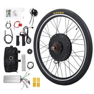 "Sandinrayli 26"" Rear Wheel 48V 1000W Elec Powered Bike Motor Cycling Conversion Kit S6B"