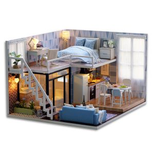 DIY Losft Apartments Wooden Dollhouse S2bB