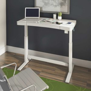 "47"" SIT/STAND DESK WHITE 16A03"