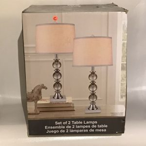 CRYSTAL TABLE LAMP 1PK  13A03
