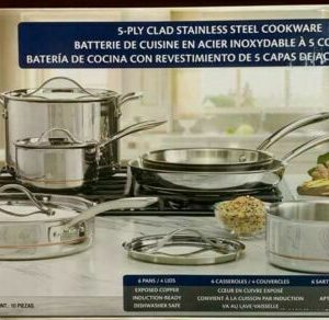 KS 10PC SS 5-PLY COOKWARE 14A01