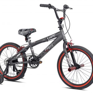 "Kent 18"" Abyss Boy's Freestyle BMX Bike, Charcoal Gray LOC: Bike FLR MD"
