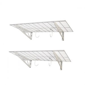 "SAFERACKS WALL SHELF 2PK 18"" x 48"" (white)"