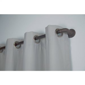 "Bali 1"" Industrial Curtain Rod Set, 66""-120"" LOC: S1A"
