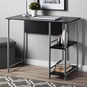 Mainstays Basic Metal Student Computer Desk, BLACK OAK S6B
