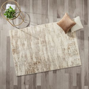 Better Homes & Gardens High Low Abstract Area Rug, Ivory, 5' x 7'