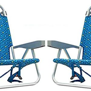 Tommy Bahama ALUMINUM BEACH CHAIR (blue flowers ) (USED)