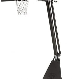 "Spalding NBA 54"" Portable Angled Basketball Hoop with ACRYLIC Backboard (BOX DAMAGE) (FL2)"