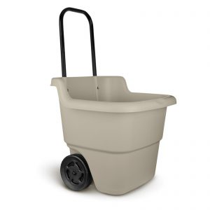 Suncast Resin Rolling Lawn and Utility Cart with Retractable Handle (MISSING 2 BOLTS FOR HANDLE) S3C