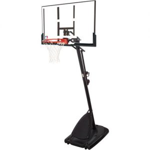 "Spalding NBA 54"" Portable Angled Basketball Hoop with Polycarbonate Backboard (BOX DAMAGE) LOC: FL02"