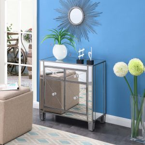 Convenience Concepts Gold Coast Vineyard 2 Drawer Mirrored Hall Table (silver) FL4