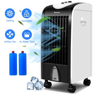 Costway Portable Air Conditioner Cooler Fan LOC:S7A MD