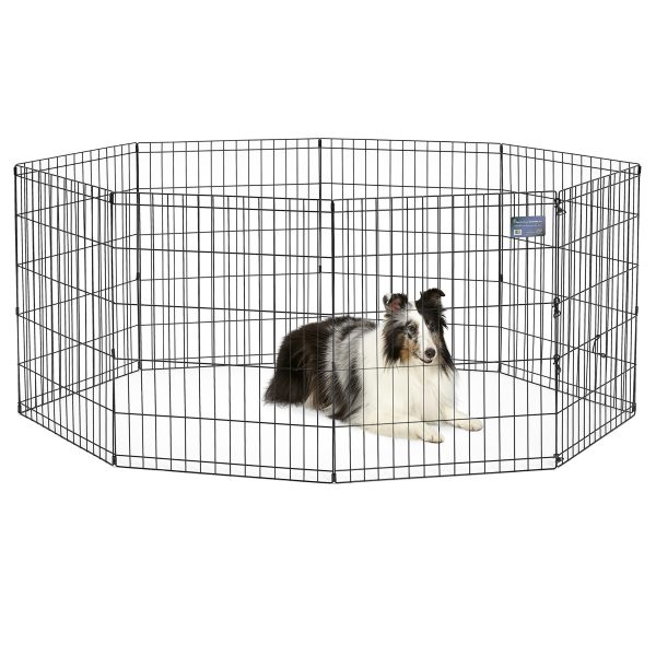 """MidWest 30""""H Foldable Metal Exercise Pet Playpen without Door S6B"""