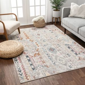 """Well Woven Rodeo Otero Bohemian Aztec 5'3"""" x 7'3"""" Ivory Area Rug"""