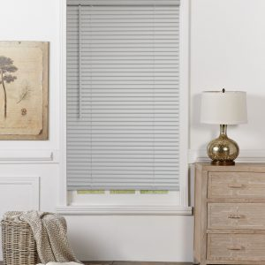 "Mainstays 1"" Cordless Room Darking Vinyl Blinds (grey) S8A2"