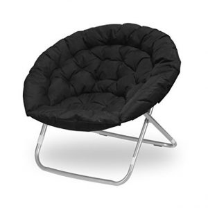 Urban shop oversized saucer chair (BLACK) LOC: S8C SMD