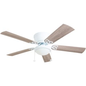Prominence 52-Inch White 5 Blade Indoor Ceiling Fan with Light LOC: S7B MD