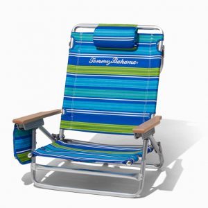 Tommy Bahama ALUMINUM BEACH CHAIR (blue stripes) (used)