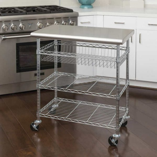 SEVILLE Stainless Steel KITCHEN CART